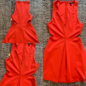 Express bright red cut out mini dress 4